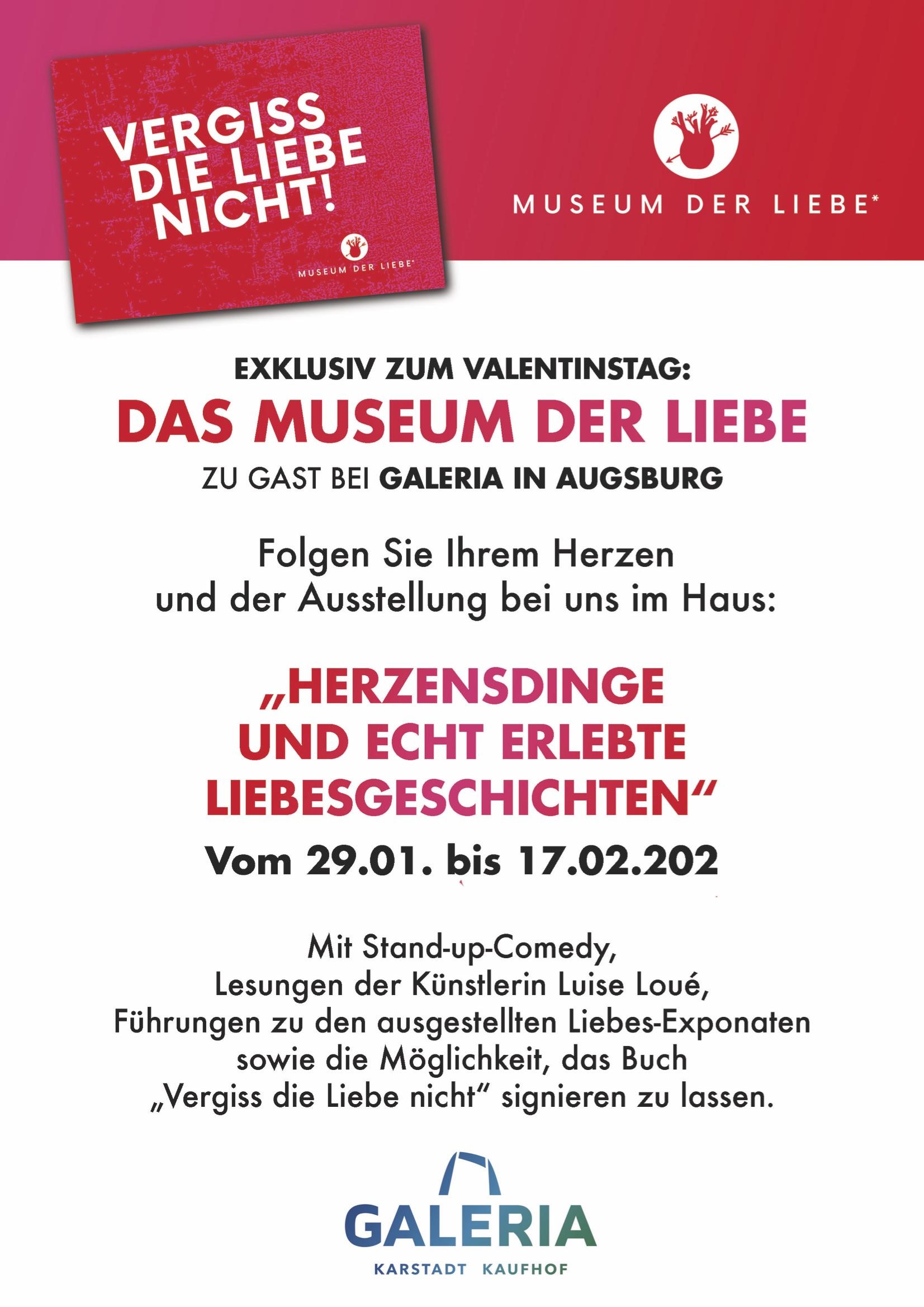 Ausstellung_Museum der Liebe_Kunst im Kaufhaus_Augsburg