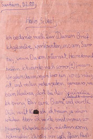 Liebesbrief in Rosa