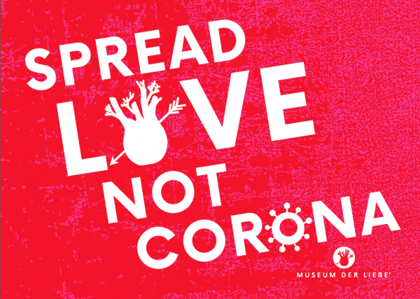 Spread love not Corona